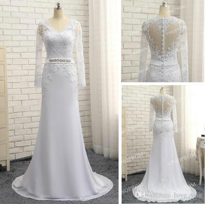 Yeni Beyaz Abiye Derin V Yaka Sweep Tren Aplike Modern Uzun Etek Ucuz Şeffaf Balo Örgün Törenlerinde Pageant Elbise
