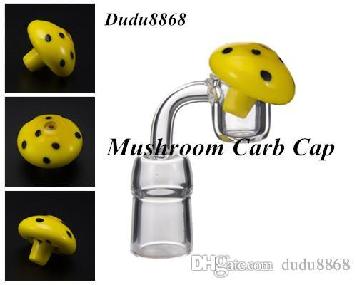 Best Mushroom Carb Cap Colored Glass Dabber Oil Rigs 4mm Thermal P