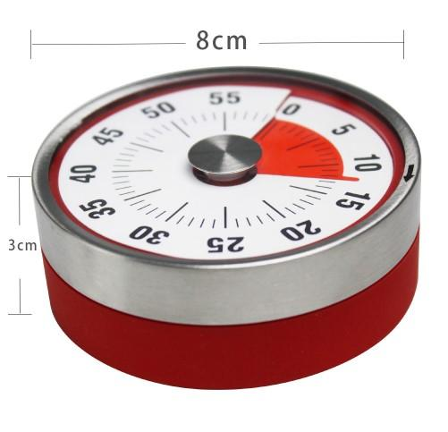 New Baldr 8cm Mini Mechanical Countdown Kitchen Tool Stainless Steel Round Shape Cooking Time Clock Alarm Magnetic Timer Reminder