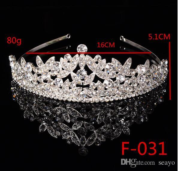 Gelin taç çember Gelin headdress taç Bandı Tiara Kristal ve alaşım Length16cm ve wideth hakkında 5.1 cm tarafından yapılan