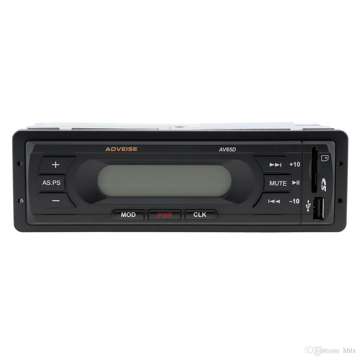 12V LCD Car Audio Stereo Radio With Mute Function USB SD MP3 Multimedia Music Player FM Radio CAU_01V