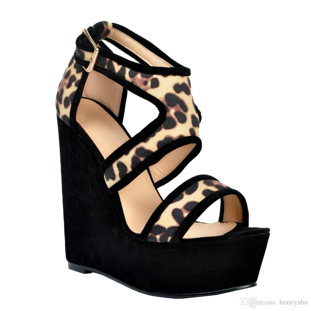 cbcaf729420b Kolnoo Womens Fashion Handmade 15cm Wadge Heel Platform Buckle Strap ...