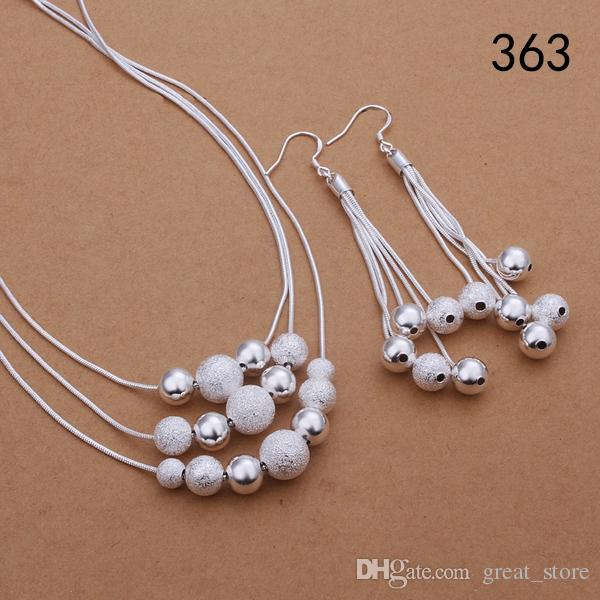 same price mix style women's sterling silver jewelry sets,fashion wedding 925 silver Necklace Earring jewelry set GTS34
