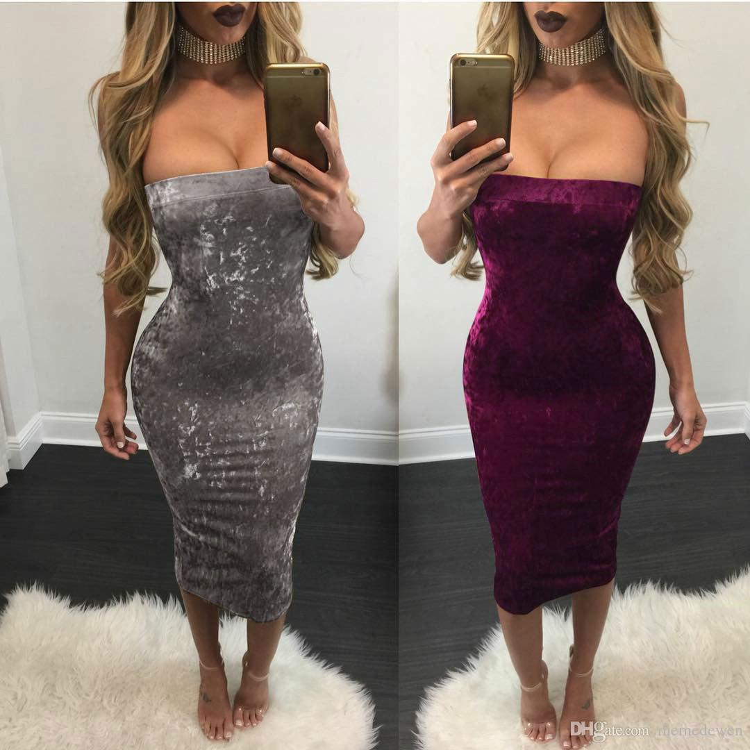 2017 summer Sexy off shoulder Nightclub women dresses 3 colours Sexy hip-hugging dress plus size dh-029