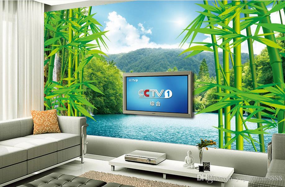 Customized 3D wallpaper Bamboo forest landscape TV backdrop wallpaper for walls 3 d photo wall mural for living room