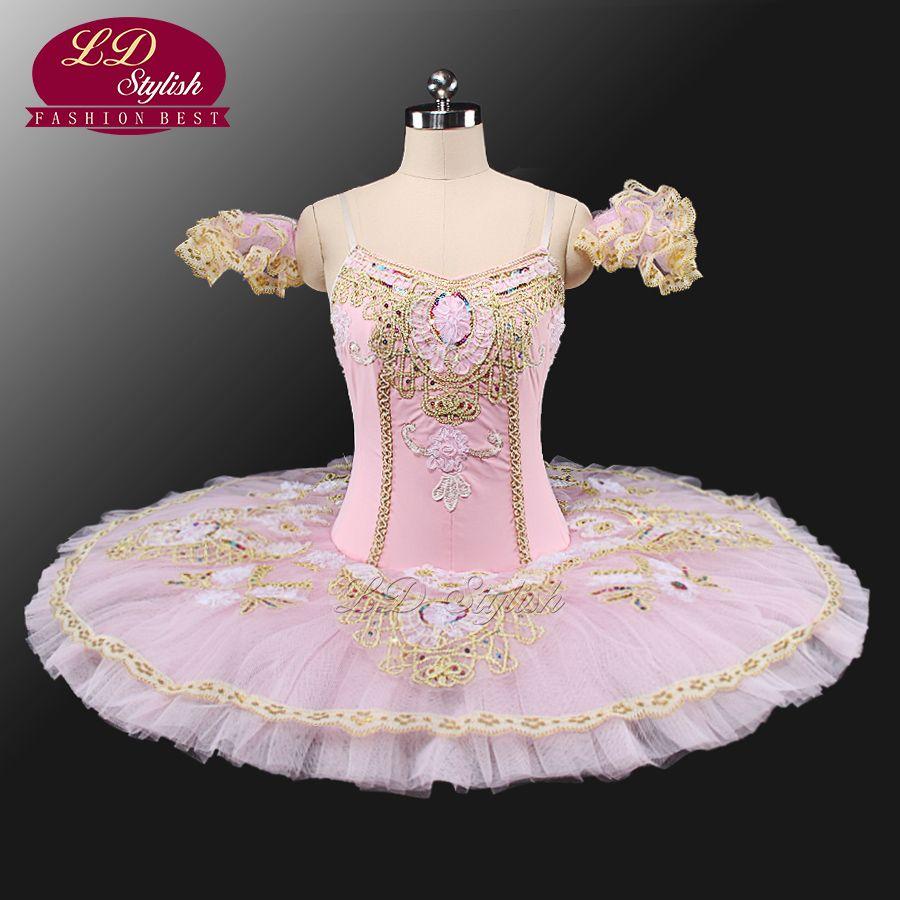 931999d884 Tutú clásico de las muchachas profesionales de la flor de hadas de ballet  tutú trajes de ballet de rendimiento de la bella durmiente panqueque tutú  traje ...