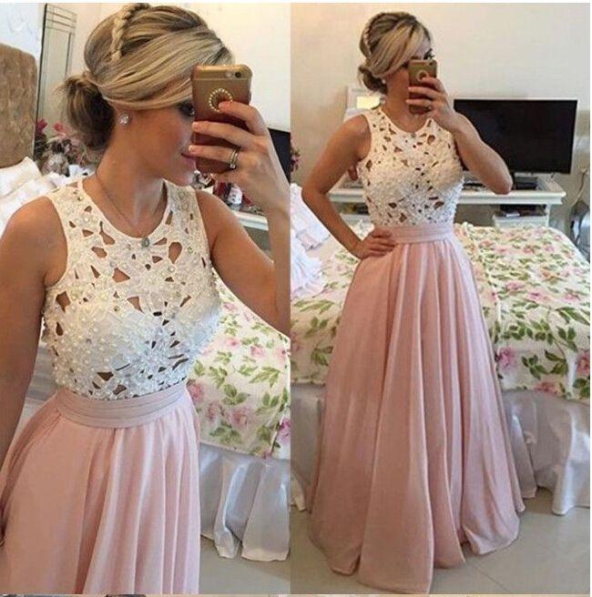 Vestido de Patchwork de encaje floral lindo de alta calidad de las mujeres mangas largas vestido de partido de gasa de encaje floral blanco remiendo de la longitud del piso vestido de noche