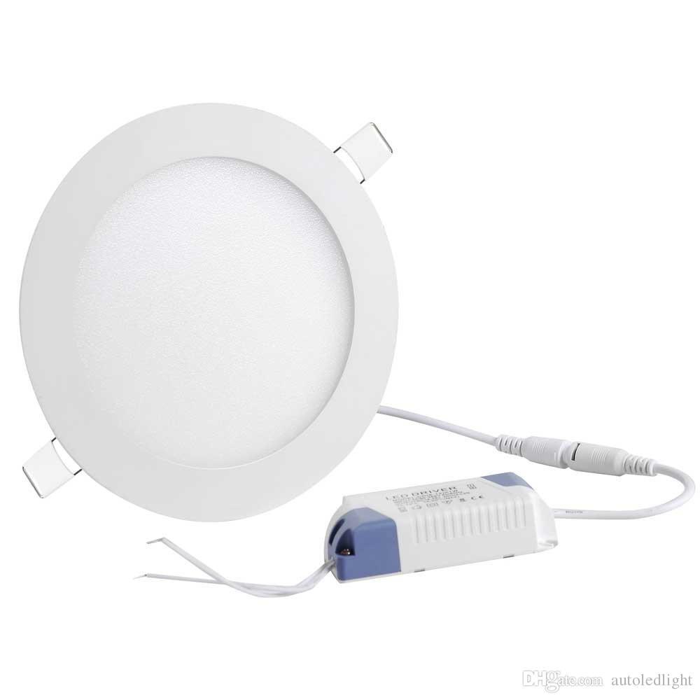 downlight recesso de teto LED luzes do painel dimmable 3W 6w 9w 12w 15w 18w levou painéis rodada quadrados interiores iluminação LED downlights AC85-265V