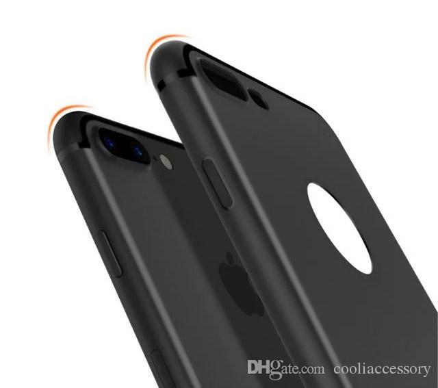Para el iphone 8 7 6 i7 6S Plus iphone7 caso suave de TPU Mate Con enchufe del polvo casos de teléfono de silicona esmerilado posterior mate de la piel cubierta para el iphone 7 casos