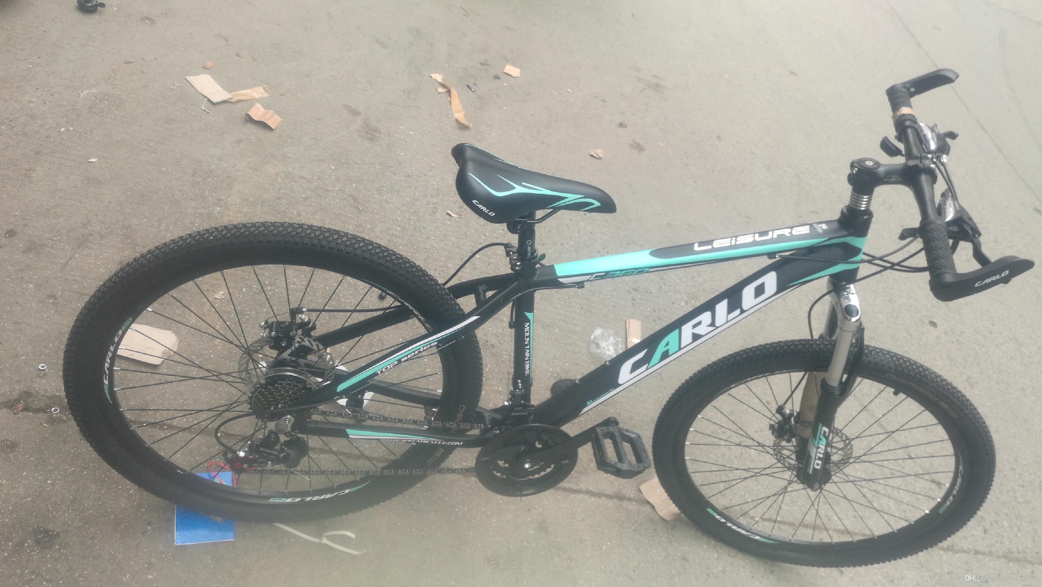 Alüminyum alaşım dağ bisikleti modeli 26 inç 21 hız Açık spor uçucu alüminyum dağ bisikleti