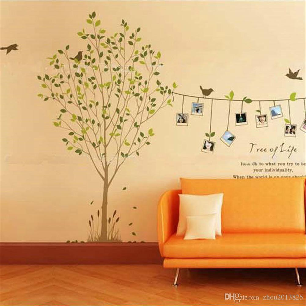 Tree Photo Frame Bird Removable Wall Sticker Decal Art Diy Home ...