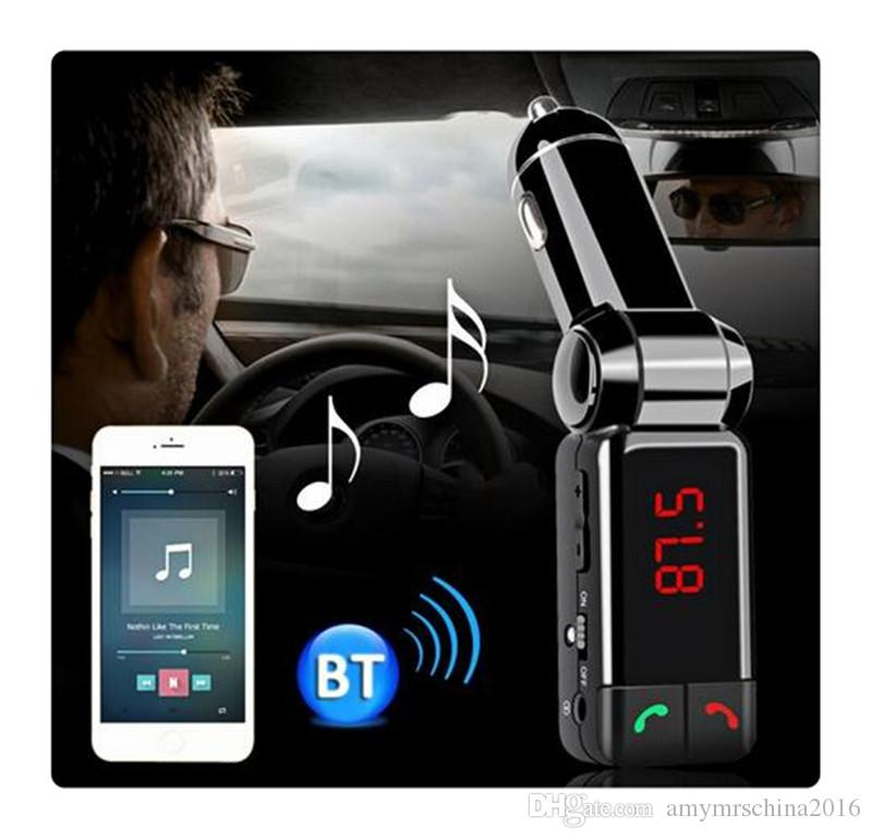 BC-06 Car Kit Bluetooth FM Transmitter Wareless MP3 Player Modulator Handsfree LCD with Dual USB Charger for iPhone 6S/7 Samsung Smartphone