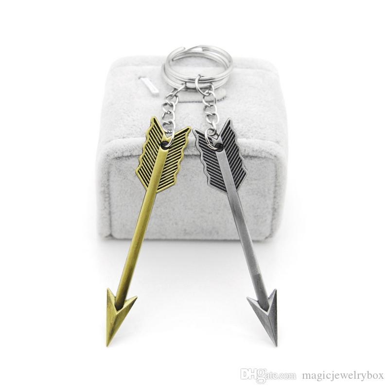 Nouvelle mode originale alliage épée porte-clés arc et les articles de nouveauté d'Arrow Homme cadeau Porte-clés