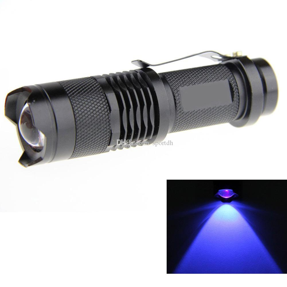 7w Q5 LED 3-mode Shell Portable Uv Flashlight Torch Adjustable Focus 18650 F00126 SPDH