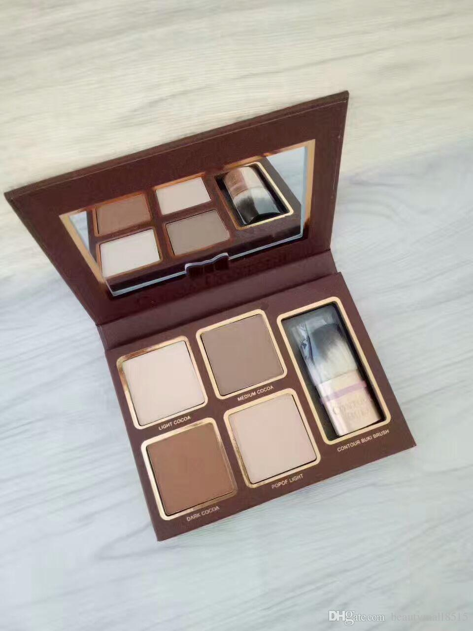 Factory Sale Brand New Cosmetics Cocoa Contour Palette Face Contouring & Highlighting Kits Wholesale Natural Bronzer Shading Makeup Free DHL