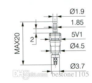 100 개 / 9001 타이어 밸브 코어 표준 짧은 밸브 줄기 코어 황동 소재 실버 바디 블랙 씰 도매 무료 배송