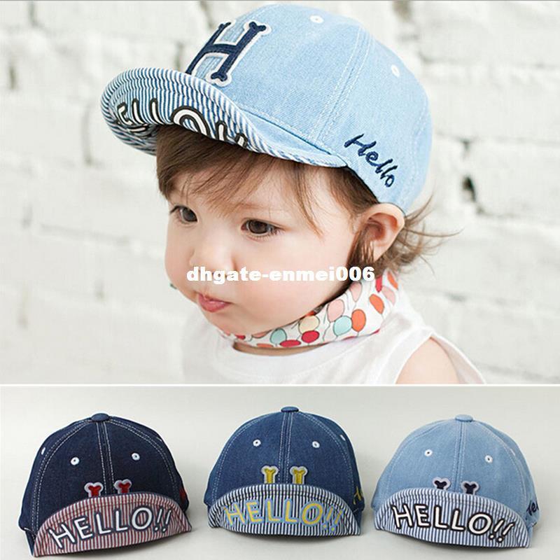 85c8cf1ca Cowboy Baby Hat Letter H Solid Baseball Cap Girls Boys Infant Cotton Caps  Fashion Accessories Newborn Baby Boy Cap 2016 Hot