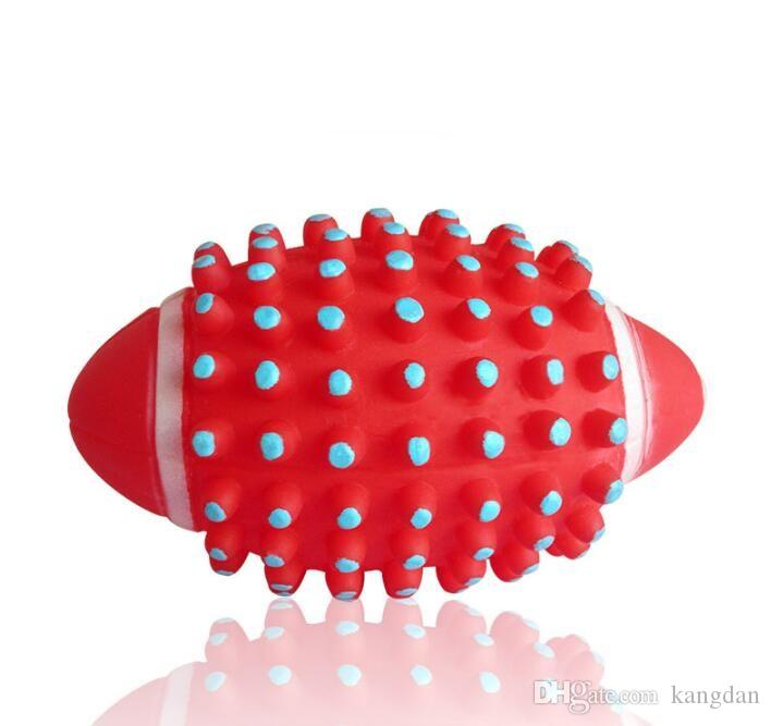 Soft Rubber pet toy Rugby Ball dog chew Toys Hedgehog Ball Bouncing Ball cleaning teeth rugby balls training interactive dog toy