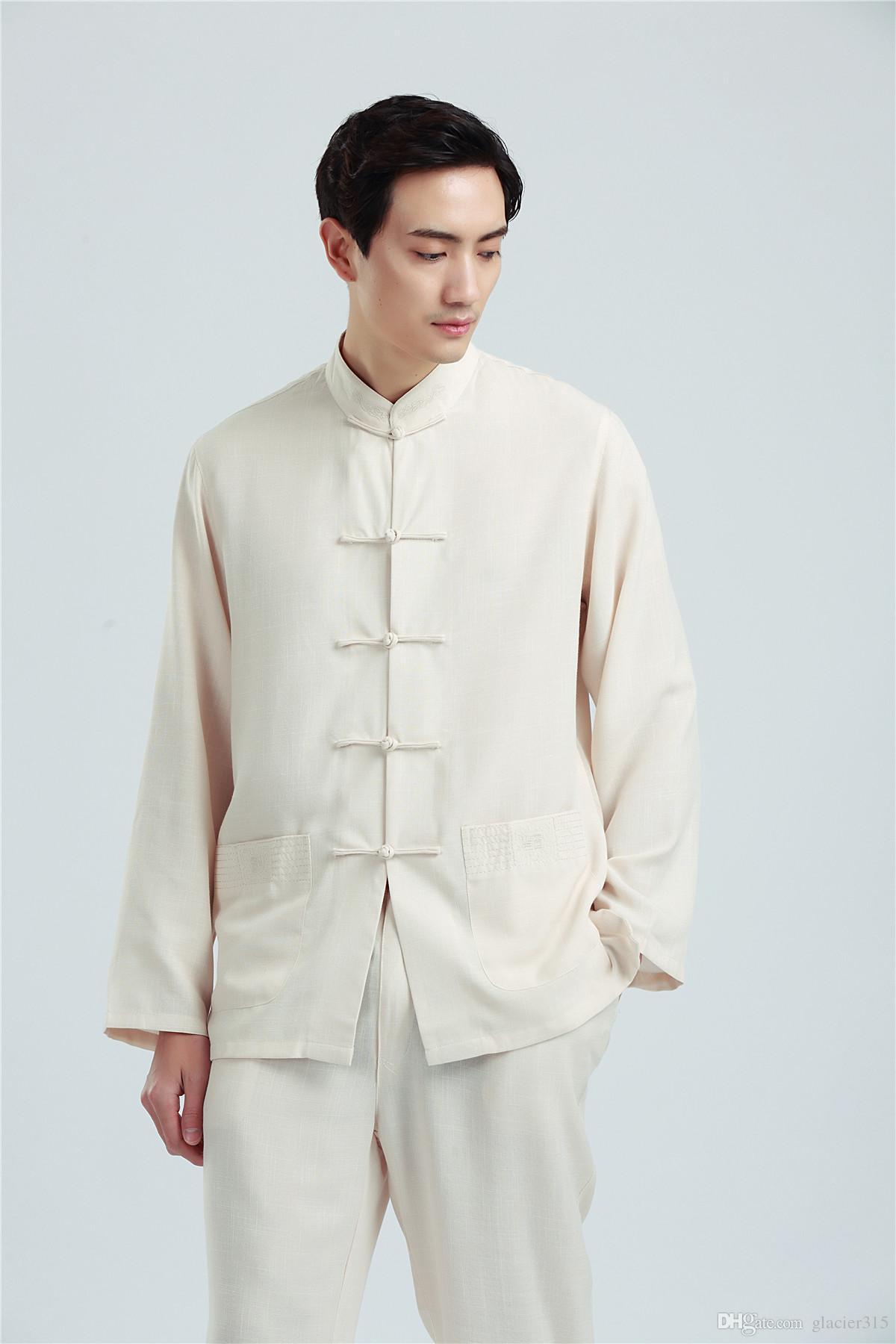 Shanghai Story Martial Arts Shirt For men Tai ji clothing Shirt kungfu Top Linen chinese kung fu Shirt Man Tai Chi CLothes