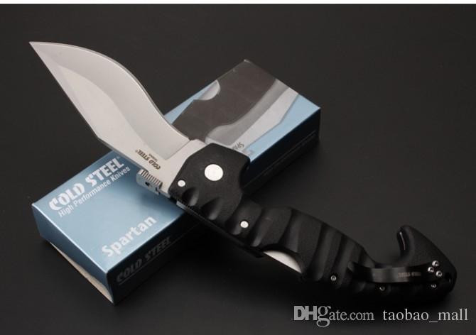 Cold Steel Messer Spartan Klappmesser Aus-8 Klinge Grivory Griff Hochwertiges Klappmesser 100% Cold Steel COLD Dog Beine Messer