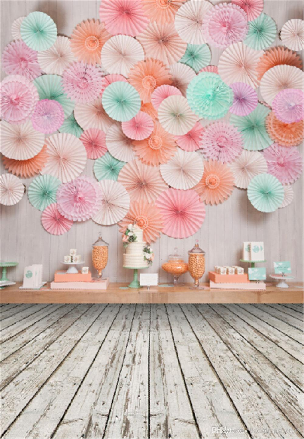 2019 digital printed paper flowers wall photography backdrop for