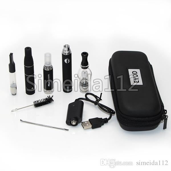 4 atomizers in 1 electronic cigaretee kit 3 in 1 wax oil dry herb eliquid vaporizer vape pen