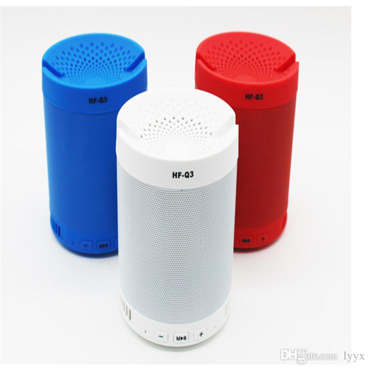 Bluetooth Stand Speakers Q3 Wireless Portable Stereo Speaker with Mic Phone Tablet Holder for Office Home Bedroom Kitchen Indoor