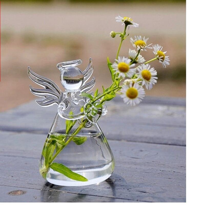 Angel Glass Vase Terrarium Vases Cute Flower Pots Tabletop Glass