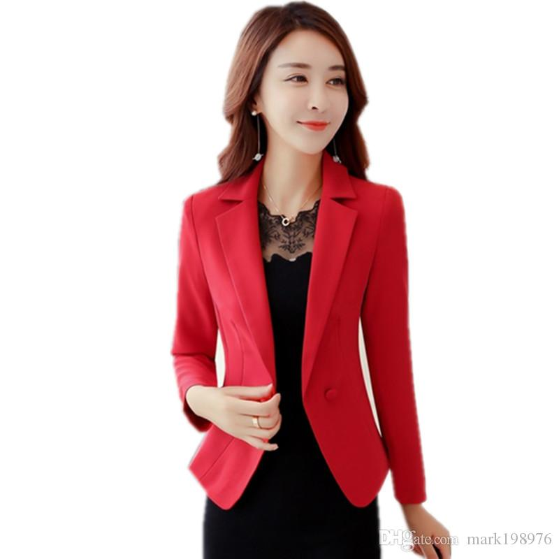 bb6e1f7bb414c 2019 OL Style Women Blazers And Jackets 2017 Womens Blazer Suit Slim Fit  Coat Long Sleeve Suit Jacket Plus Size Blaser Femenino BZ007 From  Mark198976