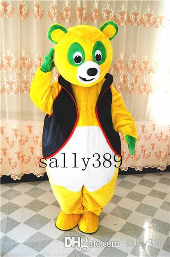 2017 New OSO Bear Mascot Yellow Vest to Wear Clothing High Quality Cartoon Costume Adult Size Fancy Dress Party Carnival Parade Free Postage Mascot Costume ... & 2017 New OSO Bear Mascot Yellow Vest to Wear Clothing High Quality ...