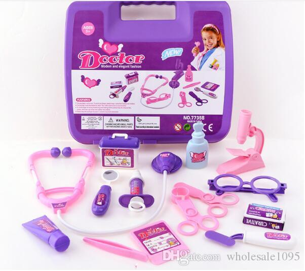 Детские игрушки моделирование шкатулка игрушки интересные Притворись играть дети доктор игровой набор развивающие игрушки набор доктора YH523