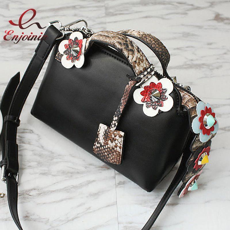 01e661ce4cf092 Wholesale New Good Quality Fashion Rivet Spell Color Flowers Snakeskin  Pattern Pu Leather Mini Shoulder Bag Ladies Handbag Messenger Bag Purses  For Sale ...