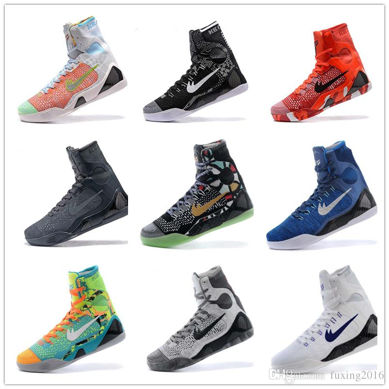 High Quality Kobe 9 Elite Black Mamba Blackout BHM Replicas Christmas Men  Basketball Shoes KB 9 IX High Sneakers With Box Shaq Shoes Kd Basketball  Shoes ... a3226d0fa