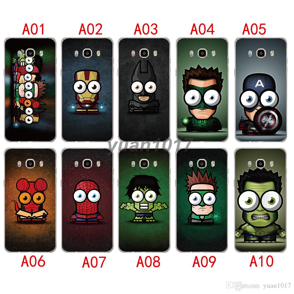 High Quality For Samsung Galaxy S8 S9 plus Silicone TPU big eyed superheroes Patterned Cover for iphone x 7 8 6 6s 5 5s se soft phone case
