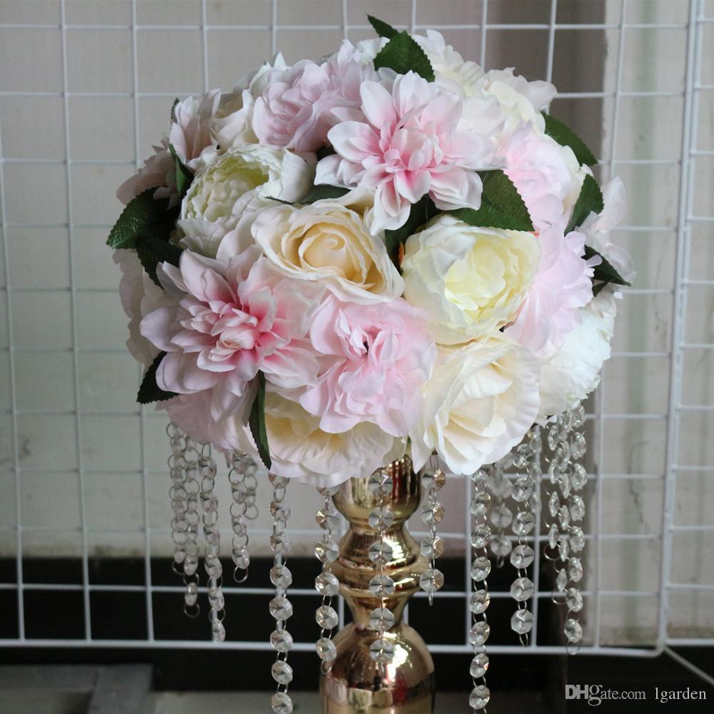 Grosshandel Kunstliche Hochzeit Strasse Blei Blume Ball Hochzeit Tisch