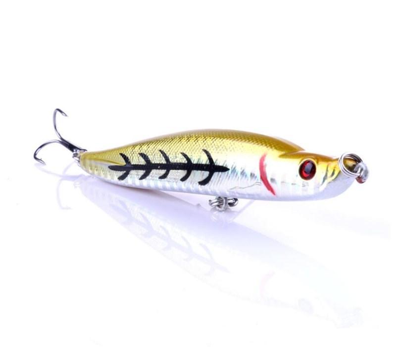 Top Sale Turnup Lip Pencil Bait 16 Gram Far Casting Fishing Pencil Lure 9.5cm 3D Eyes Lifelike Hard Baits