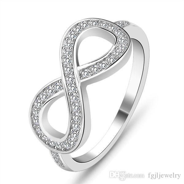 2017 new ring design fashion 925 sterling silver love infinity