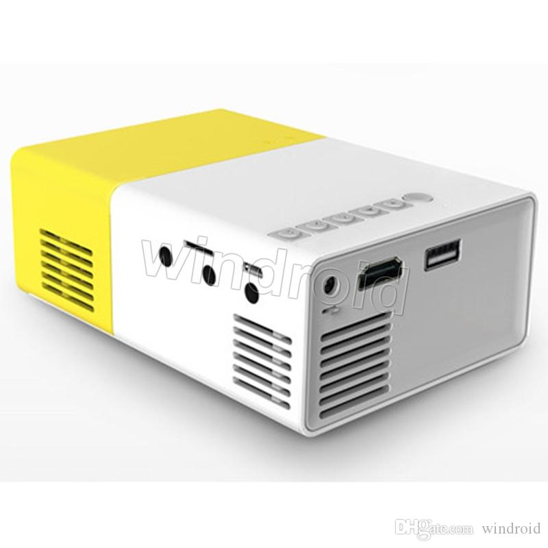 YG300 YG-300 Newest Mini Portable Pico LED Projector SD HDMI AV SD USB Projectors Home Theater Cinema + retail box cheapest 30