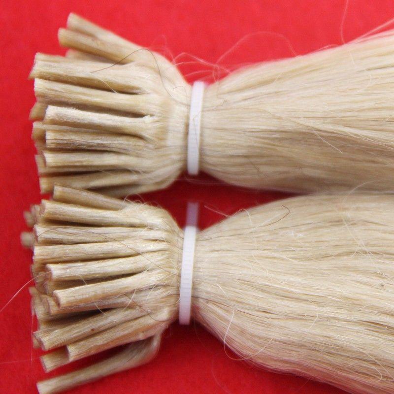 "613 Bleach Blonde Brazilian hair 100g/pc 10"" 12"" 14"" 16"" 18"" 20"" 22"" 24"" 26"" 1g Stick I Tip Human REMY Hair Extensions"
