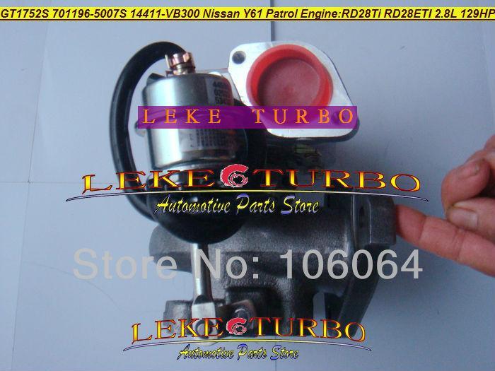 GT1752S 701196-5007S 14411-VB300 NISSAN Y61 PATROL RD28Ti RD28ETI 2.8L RD28T 129HP turbocharger (2)