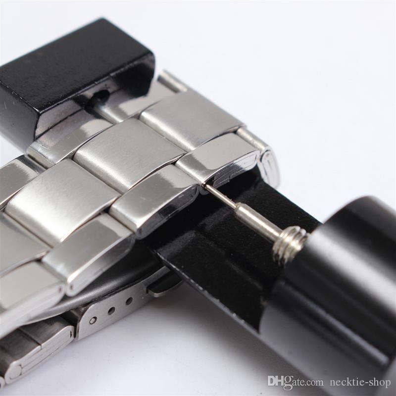 Venda Quente De Alumínio WatchBand Watch Strap Link Pin Removedor Ferramenta de Reparo Vermelho + 3 Pinos De Reposição Para Relojoeiro