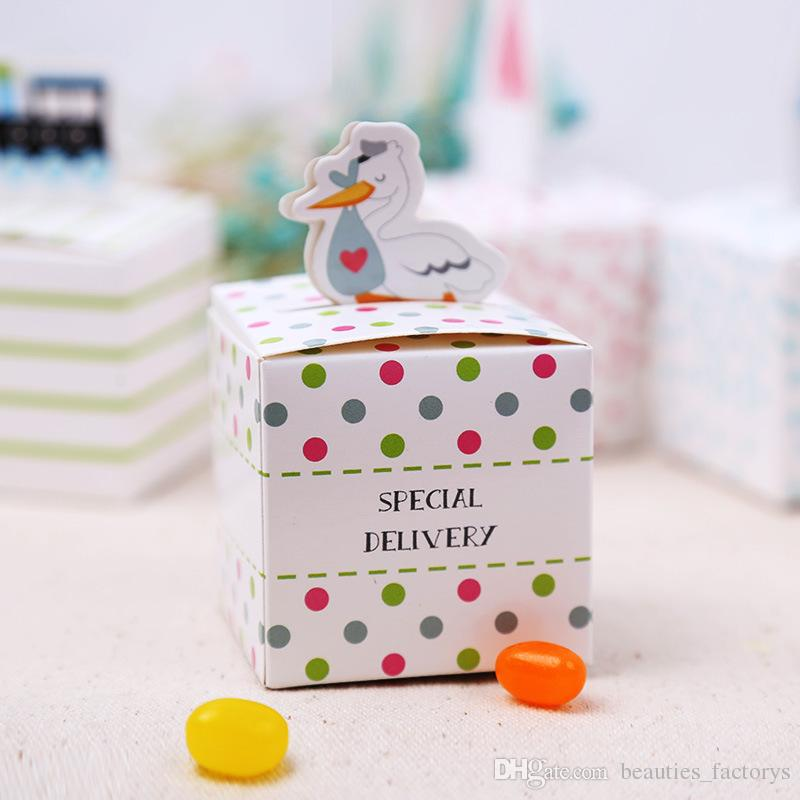 Cute Special Delivery Baby Shower Candy Box Boy Girl Gift Boxes Wedding Decoration Faovrs Design New