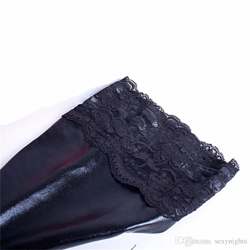 Lace Sexy Stockings Roleplay Erotic Lingerie Fetish Slave Female Costumes Hosiery