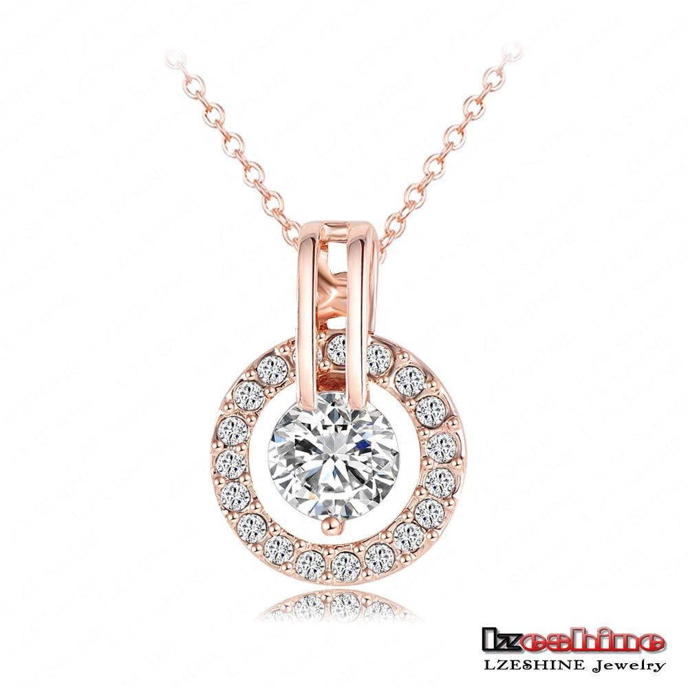 LZESHINE New 2017 Big Sale Wedding Jewelry Sets Rose Gold Plated