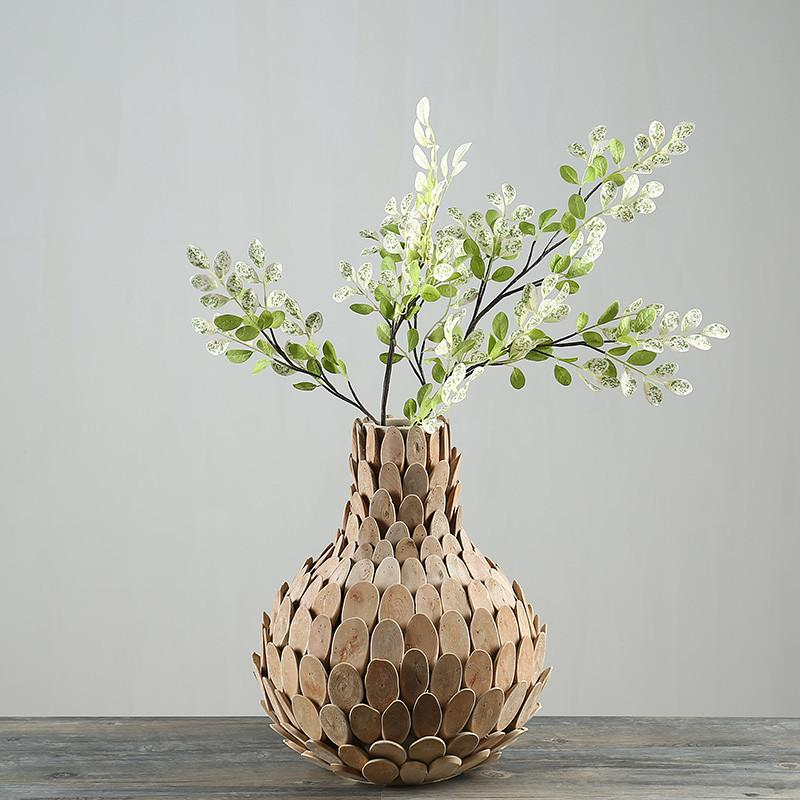 Home Decor Vase Wooden Vases For Flower Gifts Pastoral Style