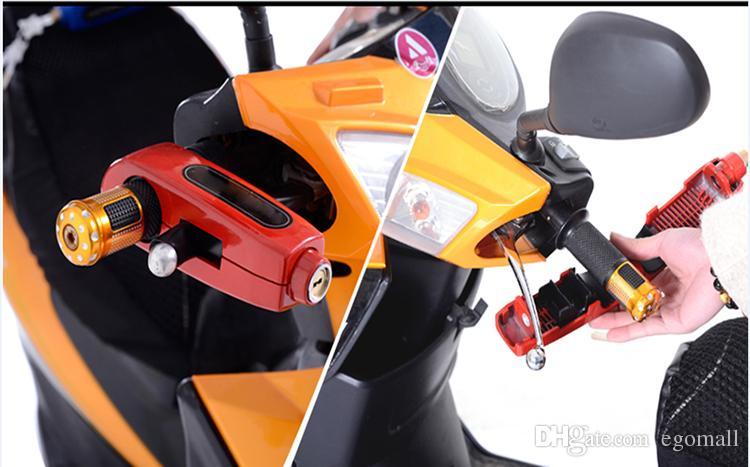 Motocicleta universal Scooter manillar de seguridad de bloqueo del freno de empuñadura de bloqueo de seguridad de la motocicleta antirrobo protección envío gratis