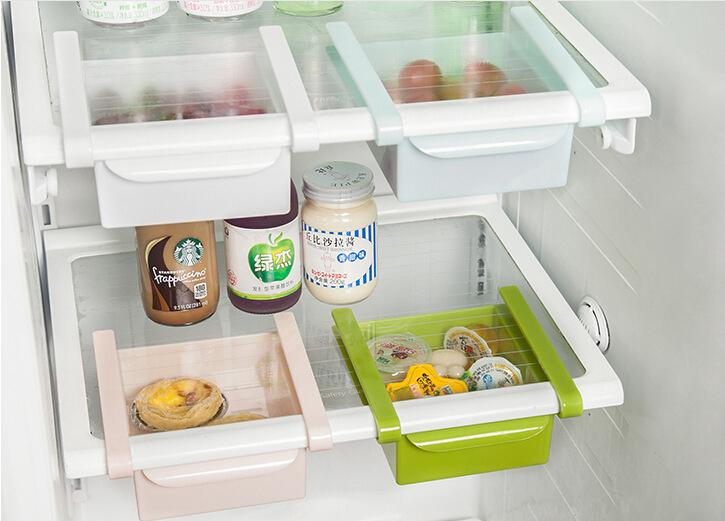 Slide Fridge Storage Rake Freezer Food Boxes Pantry Storage