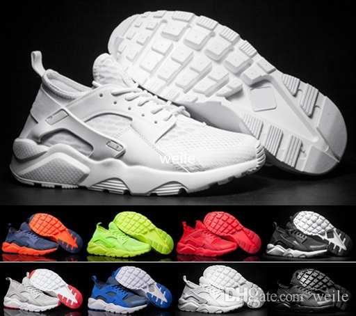 new style 29f0f a0d2f Acheter Chaussures De Course Air Huarache Run Ultra Br 4 Iv Pour Hommes  Femmes, Hommes Rouge Blanc Noir Huaraches Baskets De Sport Baskets Huraches  ...