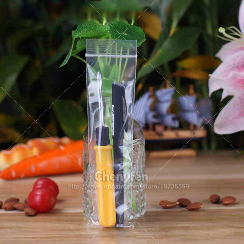 100pcs 5x19cm Jewelry Ziplock Zip Zipped Lock Reclosable Plastic Poly Long  Clear Bags Thick 6mil 2