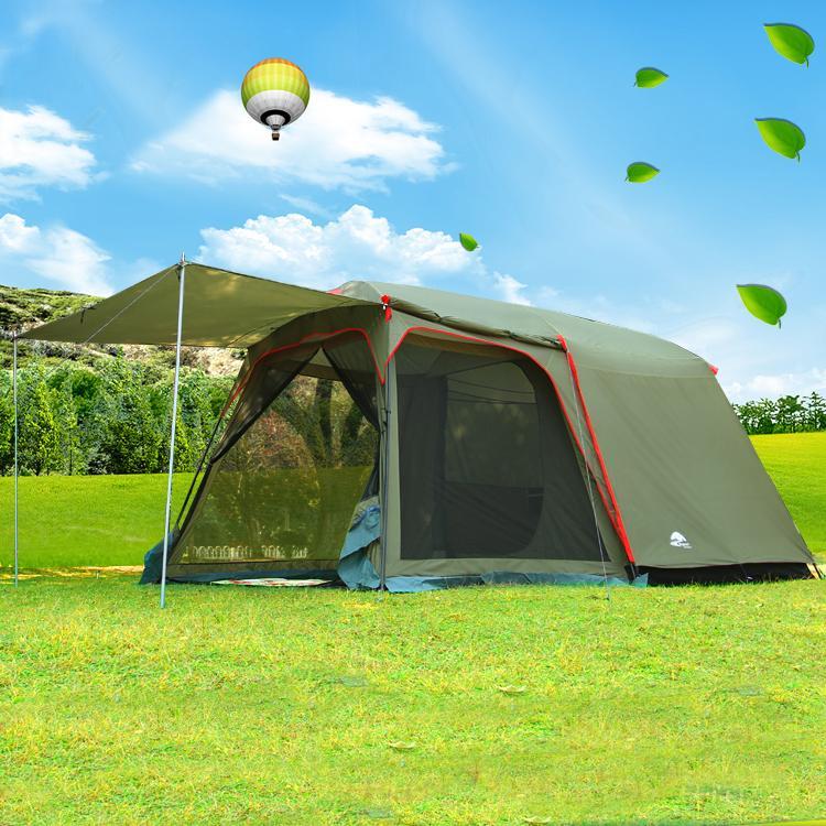 de9cc19be33c9 Acheter Vente En Gros Authentique Août 4 8 Personne En Plein Air Camping  1Hall 1Bedroom Anti Pluie Vent Grande Tente De Camping De Voyage En Bonne  Qualité ...
